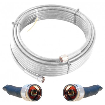 Wilson 952402 2' White WILSON400 Ultra Low Loss Coax Cable with N-Male Connectors