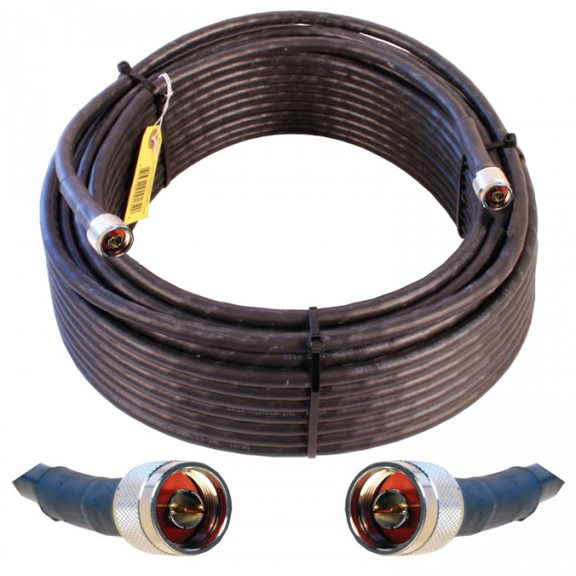N-Male to N-Male Wilson Electronics 2 ft Black Wilson400 Ultra Low Loss Coax Cable